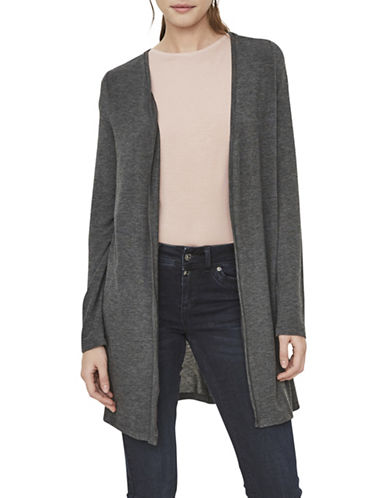 Vero Moda Honey Long Cardigan-GREY-X-Small