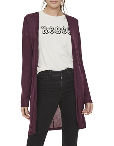 Vero Moda Honey Long Cardigan-PURPLE-Medium