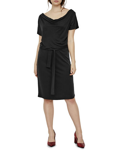 Vero Moda Nice Jersey Dress-BLACK-Large