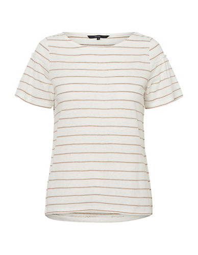 Vero Moda Roza Striped Short-Sleeve Top-GREY-Large 90065749_GREY_Large