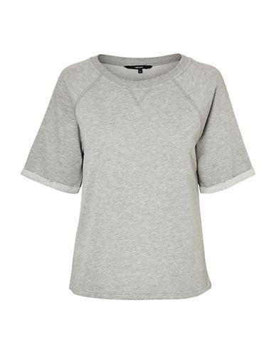 Vero Moda Blaure Short-Sleeve Sweatshirt-GREY-Large 90065778_GREY_Large