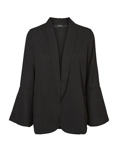 Vero Moda Shawl Open-Front Blazer-BLACK-42