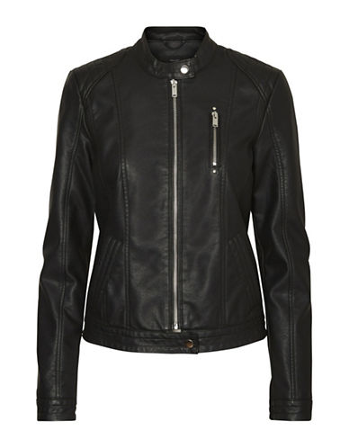 Vero Moda California Favo Short Jacket-BLACK-Medium