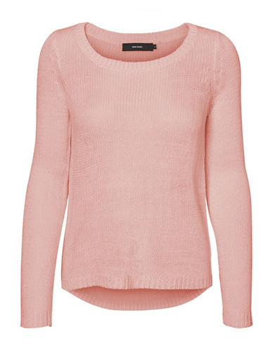 Vero Moda Classic Cable-Knit Sweater-PINK-Large
