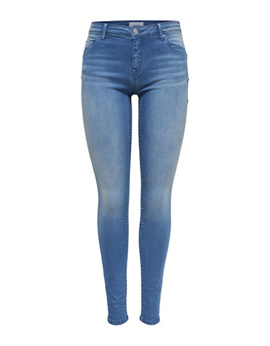 Only Allan Push Up Skinny Jeans-LIGHT BLUE-29 32
