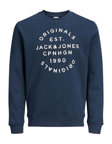 Jack & Jones Crew Neck Sweater-BLUE-XX-Large