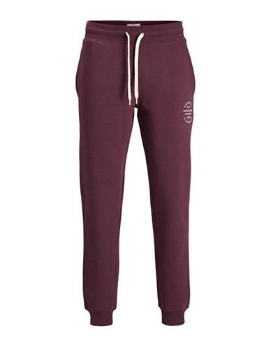 Jack & Jones Drawstring Sweatpants-RED-X-Large