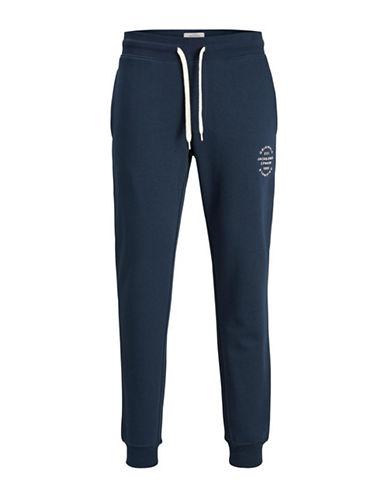 Jack & Jones Drawstring Sweatpants-BLUE-X-Large