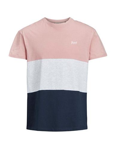 Jack & Jones Jorbell Colourblock T-Shirt-PINK-X-Large 89982295_PINK_X-Large
