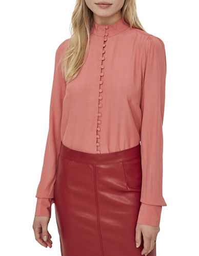 Vero Moda Carmen Button-Down Shirt-PINK-X-Small