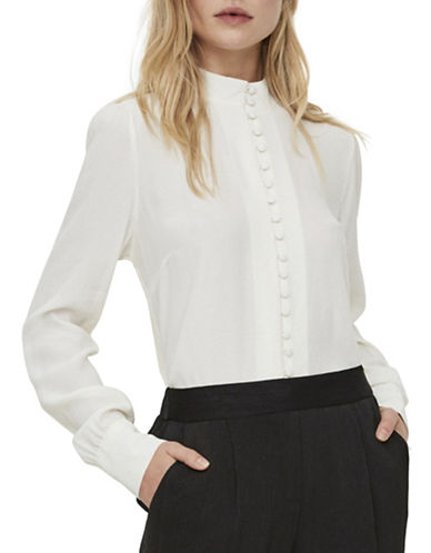 Vero Moda Carmen Button-Down Shirt-WHITE-X-Small