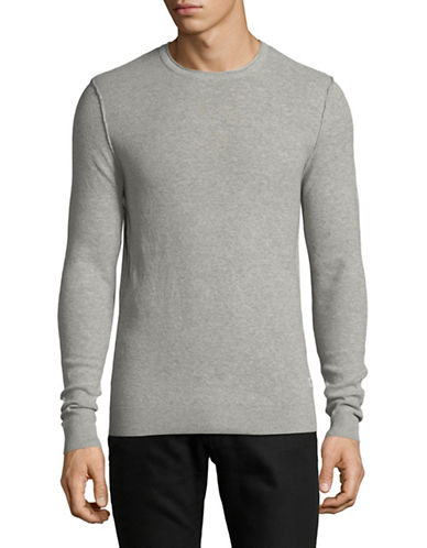Jack & Jones Long -Sleeve Cotton Sweatshirt-LIGHT GREY-Medium