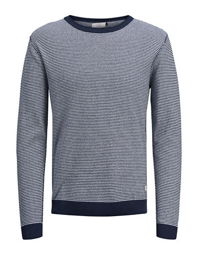 Jack & Jones Long -Sleeve Cotton Sweatshirt-NATURAL-Large