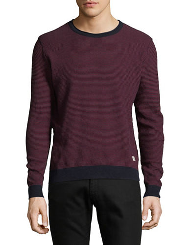 Jack & Jones Long -Sleeve Cotton Sweatshirt-RED-Small