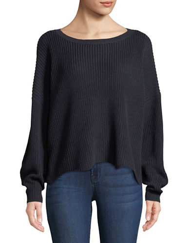 Only Tina Long-Sleeve Oversized Pullover-NIGHT SKY-Medium