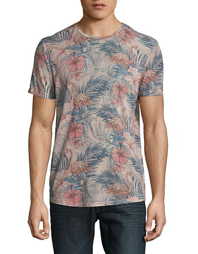 Jack & Jones Jorfloras Crew Neck T-Shirt-PINK-Medium 89982386_PINK_Medium