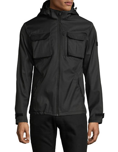 Jack & Jones Hooded Camp Jacket-BLACK-Medium