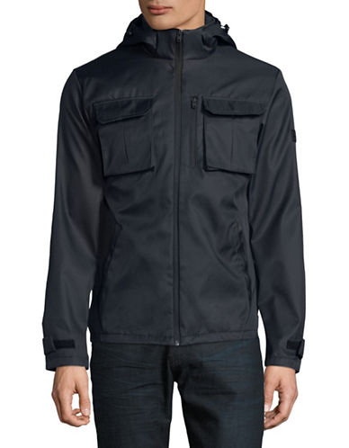Jack & Jones Hooded Camp Jacket-BLUE-X-Large