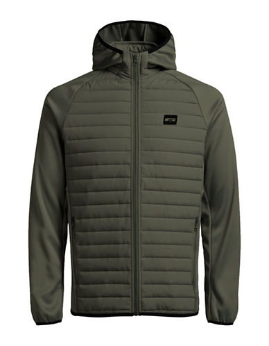 Jack & Jones Lightweight Quilted Jacket-GREEN-X-Large 89818734_GREEN_X-Large