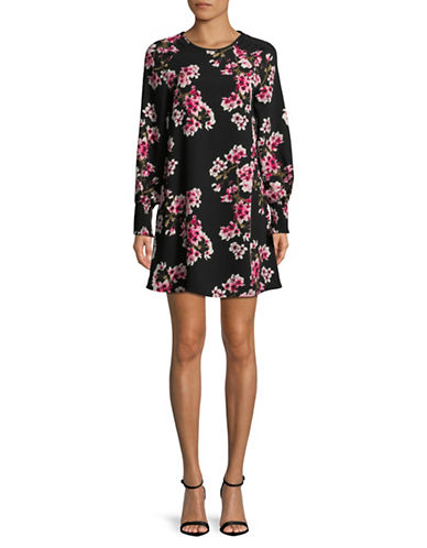 Vero Moda Occasion Mia Short Shift Dress-BLACK/PINK-Medium