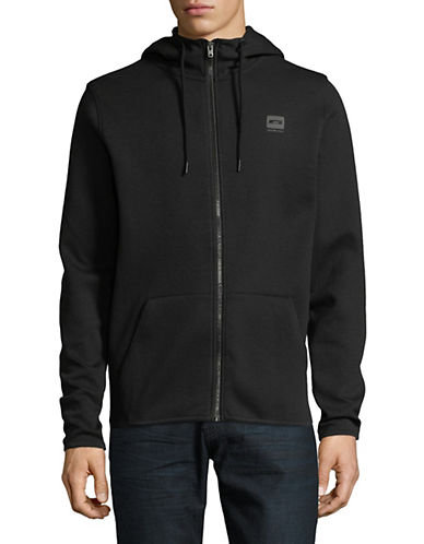Jack And Jones Core Logo Full-Zip Hoodie-BLACK-Medium 90054132_BLACK_Medium