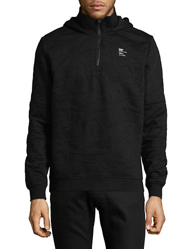 Jack And Jones Core Logo Quilted Hoodie-BLACK-XX-Large 90054145_BLACK_XX-Large