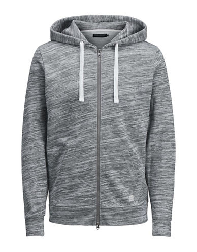 Jack And Jones Premium Zip-Up Cotton Hoodie-GREY-Medium 89921684_GREY_Medium