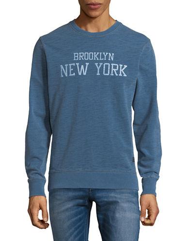 Jack And Jones Premium Cotton Crewneck Sweater-BLUE-Medium 89788210_BLUE_Medium