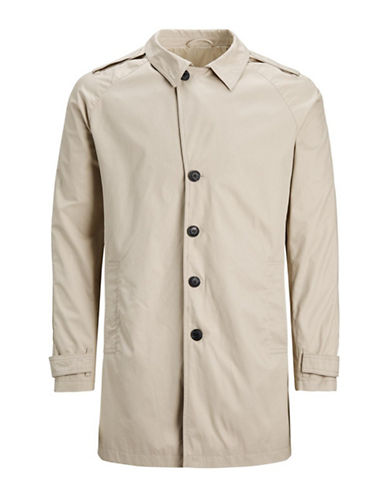 Jack And Jones Premium Classic Trench Coat-BEIGE-Medium