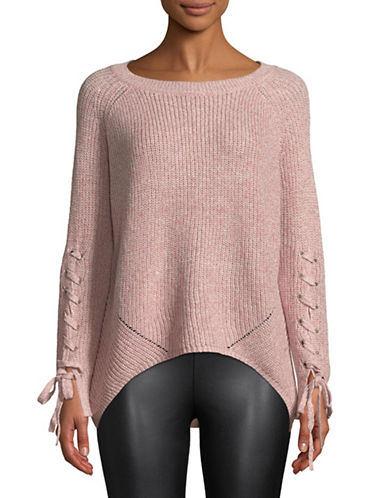 Only Noleta Laced-Sleeve Sweater-BLUSH-X-Small