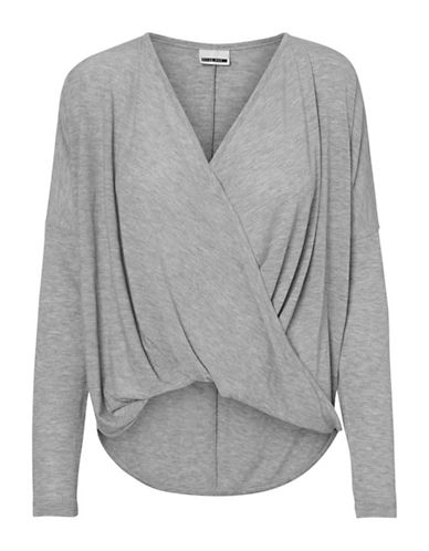 Noisy May Karna Long-Sleeve Top-LIGHT GREY-X-Small