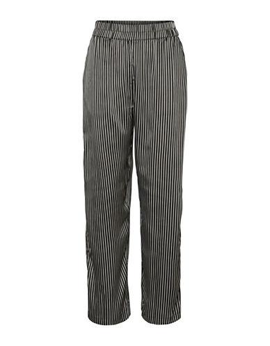 Noisy May Felicia High-Waist Straight Pants-WHITE-Small