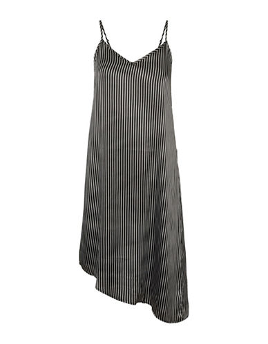 Noisy May Felicia Sateen Sleeveless Dress-BLACK/WHITE-Medium