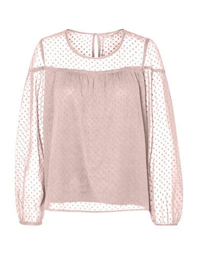 Vero Moda Jotty Sheer Polka Dot Top-PINK-Small 89795410_PINK_Small