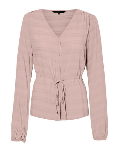 Vero Moda Sophia Tonal Striped Long Sleeve Top-PINK-Small 89795371_PINK_Small