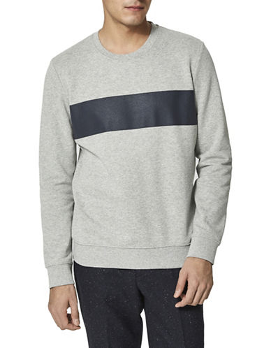 Selected Homme Dutch Crew Neck Cotton Sweatshirt-LIGHT GREY-X-Large