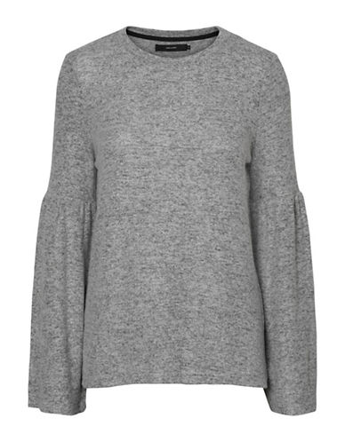 Vero Moda Roya Bell Sleeve Sweater-GREY-Small