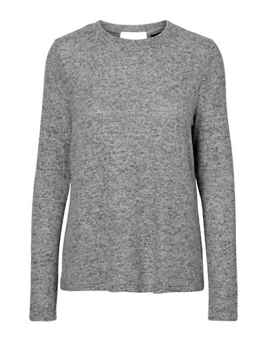 Vero Moda Roya Wrap Back Sweater-GREY-X-Large 89739321_GREY_X-Large