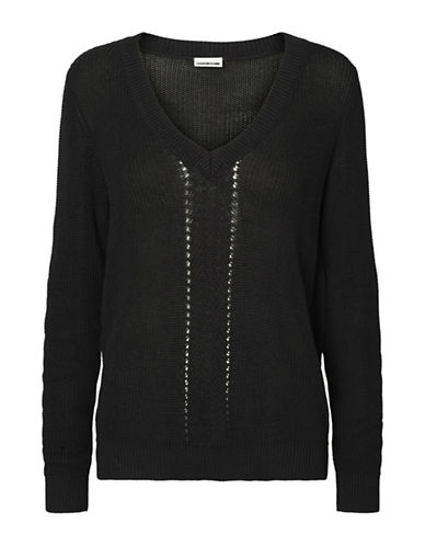 Noisy May Skylar Long-Sleeve Pullover-BLACK-X-Small