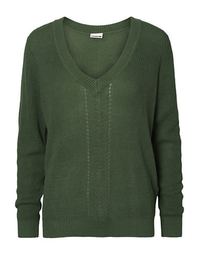 Noisy May Skylar Long-Sleeve Pullover-GREEN-Medium