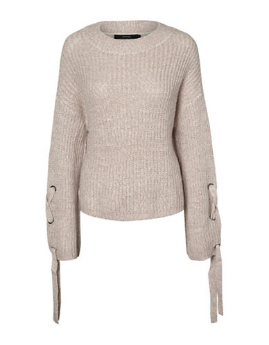 Vero Moda Vilgi Crop Sweater-PINK-Medium