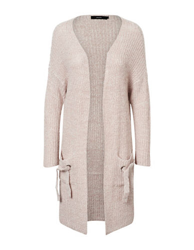Vero Moda Vilgi Long Open Cardigan-PINK-Small
