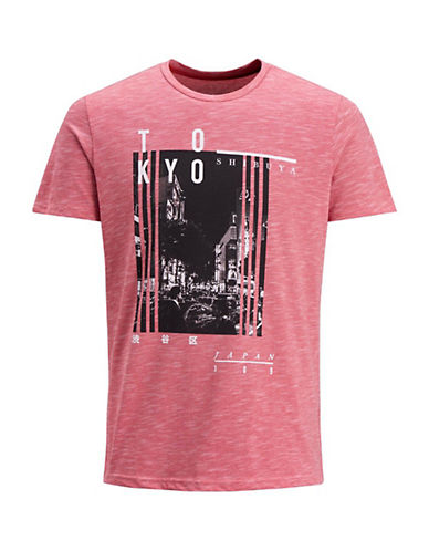 Jack & Jones Feeder City Short-Sleeve T-Shirt-RED-Medium 90069875_RED_Medium