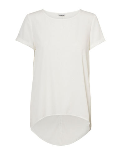 Noisy May Cosmo Short-Sleeve Fred Tee-SNOW WHITE-X-Small