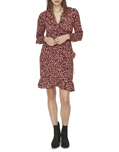 Vero Moda Henna Fifi Wrap Dress-RED-Small