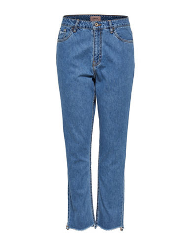 Only Kelly High-Waist Cotton Jeans-MEDIUM BLUE-27