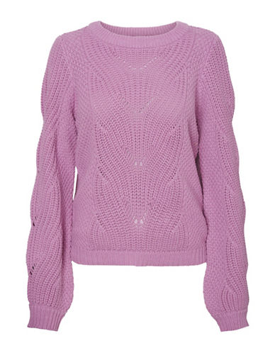 Vero Moda Wishi Knit Sweater-MAUVE-X-Small