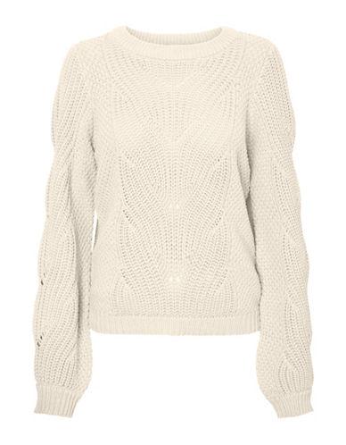 Vero Moda Wishi Knit Sweater-WHITE-X-Large