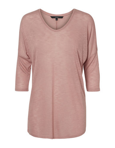 Vero Moda Anna Asti Three Quarter Sleeve Top-PINK-Small 89738653_PINK_Small