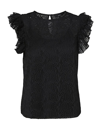 Vero Moda Lida Frill Lace Top-BLACK-Medium 90065825_BLACK_Medium